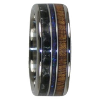 9 mm Australian Opal, Carbon Fiber & KOA Wood in Titanium Model #7010