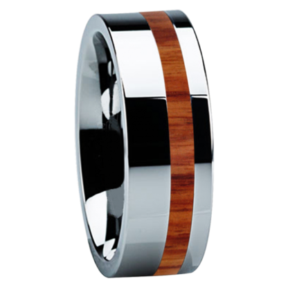8 mm Tulip Wood Inlay in Titanium Model #3010