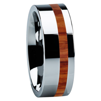 8 mm Tulip Wood Inlay in Tungsten Model #3715