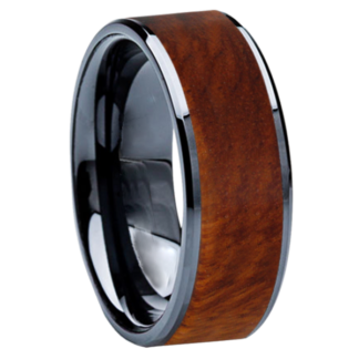 8 mm Amboyna Wood Inlay in Black Ceramic Model #3506