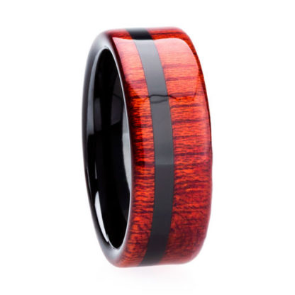 8 mm Bloodwood Inlay in Black Ceramic Model #3500