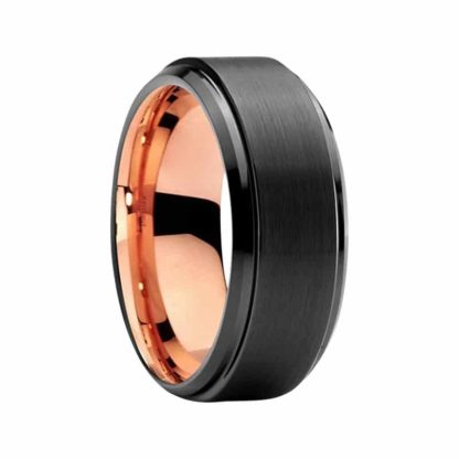8 mm Black Tungsten Carbide Sizing Ring with Step Edges Model #S1005