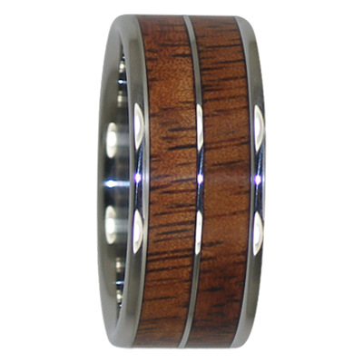 8 mm Tungsten with Dual KOA Inlays Model #2005