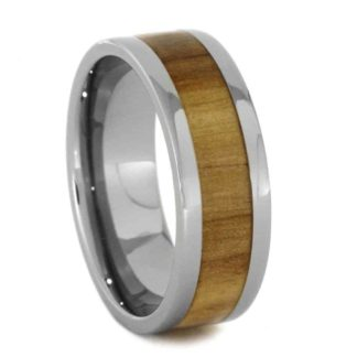 8 mm Tungsten with Aspenwood Inlay Model #1035