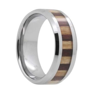 8 mm Tungsten with Bamboo/KOA Inlay Model #1008