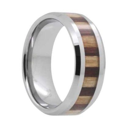 8 mm Tungsten with Bamboo/KOA Inlay Model #1008