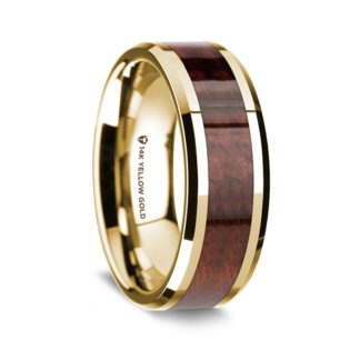 8 mm Redwood Inlay in 14 Kt. Yellow Gold Model #5605