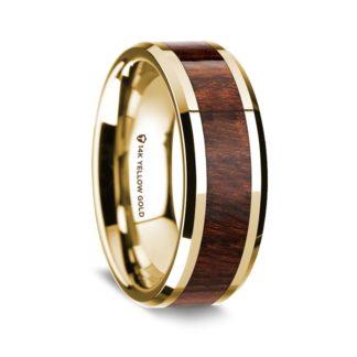 8 mm Carpathian Wood Inlay in 14 Kt. Yellow Gold Model #5585