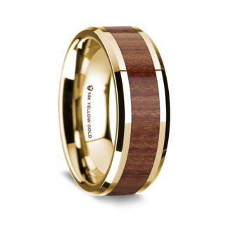 8 mm Rosewood Inlay in 14 Kt. Yellow Gold Model #5610