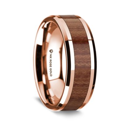 8 mm Rosewood Inlay in 14 Kt. Rose Gold Model #5545