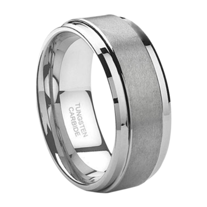 8 mm Tungsten Sizing Ring with Step Edges Model #S1000