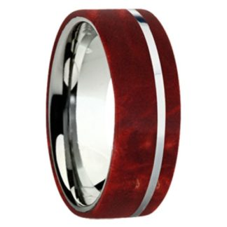 8 mm Red Box Elder Wood Inlay with Titanium Stripe Model #3035