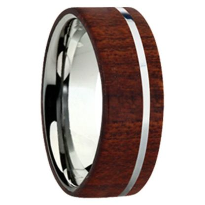 8 mm Bloodwood Inlay with Titanium Stripe Model #3040