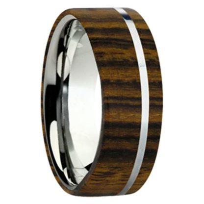 8 mm Bocote Wood Inlay with Titanium Stripe Model #3045