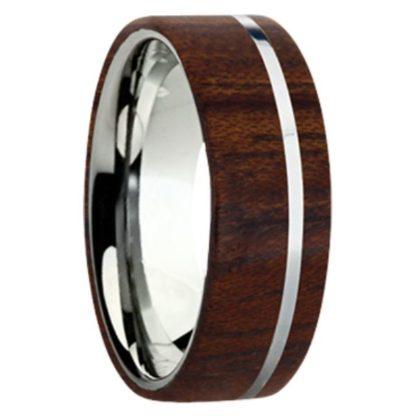 8 mm Bubinga Wood Inlay with Titanium Stripe Model #3050
