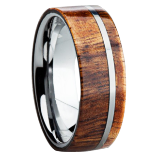 8 mm KOA Wood Inlay with Titanium Stripe Model #3020