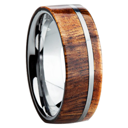 8 mm KOA Wood Inlay with Titanium Stripe Model #3020