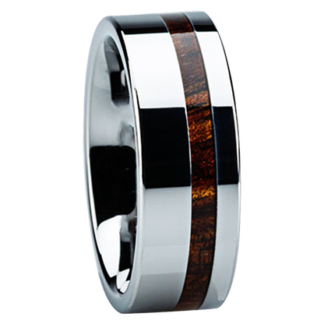 8 mm KOA Wood Inlay in Titanium Model #3017