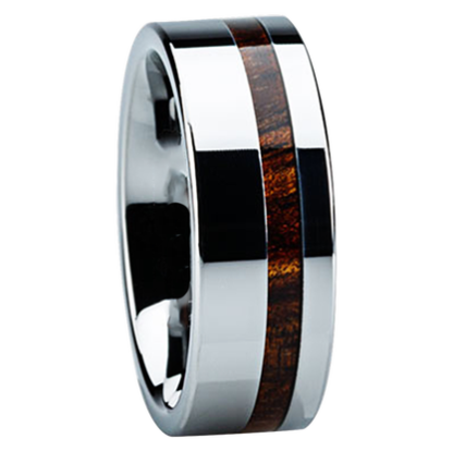 8 mm KOA Wood Inlay in Titanium Model #3017
