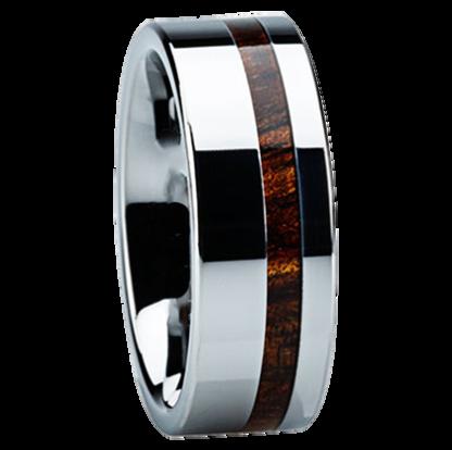 8 mm KOA Wood Inlay in Tungsten Model #3700