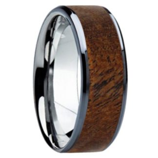8 mm Mesquite Wood Inlay in Titanium Model #3090