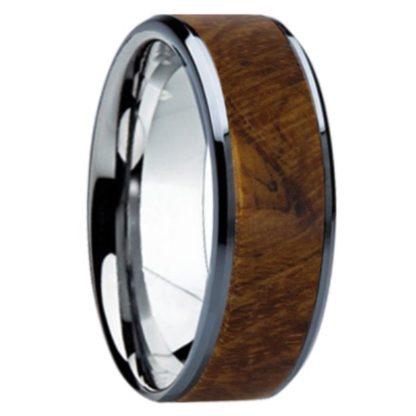 8 mm Teak Wood Inlay in Titanium Model #3100