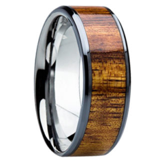 8 mm KOA Wood Inlay in Titanium Model #3070