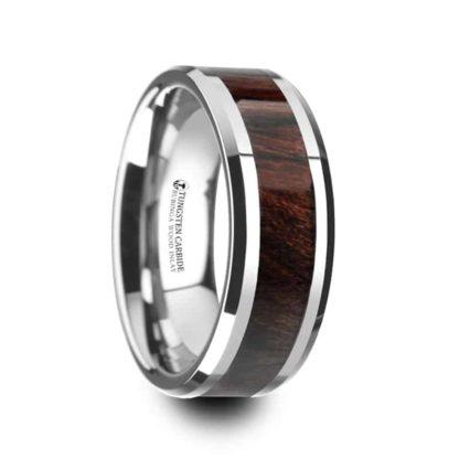 8 mm Bubinga Wood Inlay Beveled Edges in Tungsten Model #5145