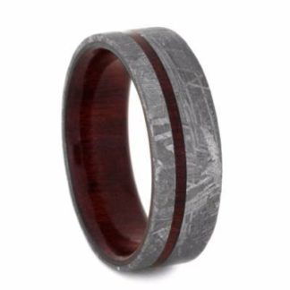 8 mm Bloodwood & Meteorite Inlay in Titanium Model #3275