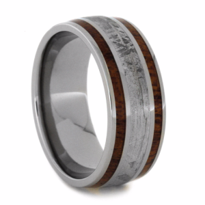9 mm Dual Mahogany & Meteorite Inlay in Titanium Model #3195
