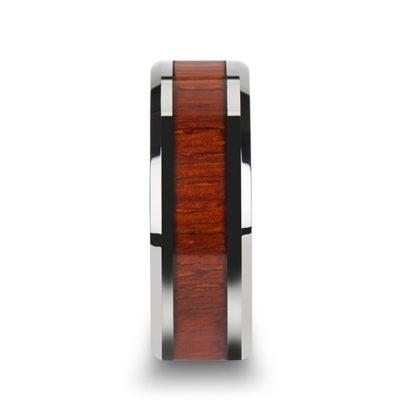 8 mm Padauk Wood Inlay Beveled Edges in Titanium Model #5085