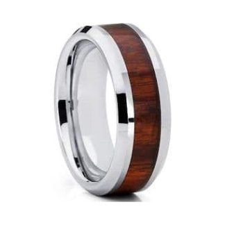 8 mm Tungsten with KOA Inlay Model #1025