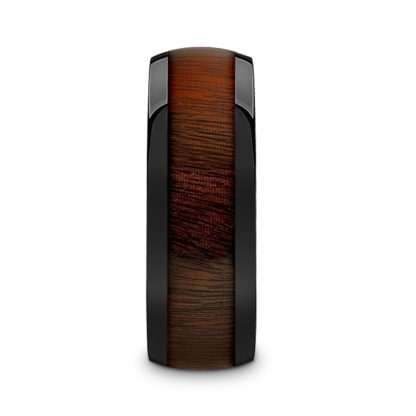 8 mm Rosewood Inlay Sloped Edges in Black Ceramic Model #5095