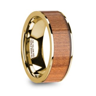 8 mm Sapele Wood Inlay in 14 Kt. Yellow Gold Model #5840