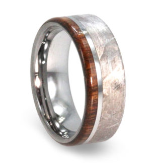 8 mm Ironwood and Meteorite Inlay in Tungsten Model #3750
