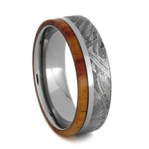 7 mm Ironwood & Meteorite Inlay in Titanium Model #3245