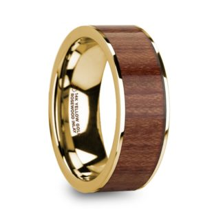 8 mm Rosewood Inlay in 14 Kt. Yellow Gold Model #5865