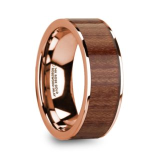 8 mm Rosewood Inlay in 14 Kt. Rose Gold Model #5885