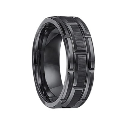8 mm Black Tungsten Matrix Ring Model #970