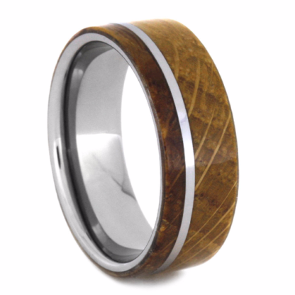 8 mm Whiskey Barrel Wood Inlay in Tungsten Model #3740