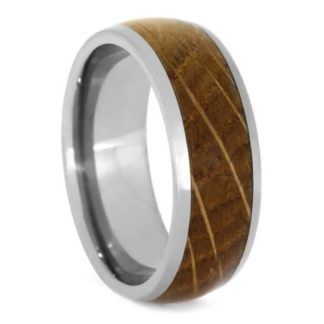 8 mm Whiskey Barrel Wood Inlay in Titanium Model #3140