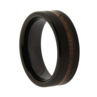8 mm Black Tungsten with KOA Inlay Model #2001