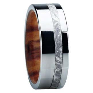 8 mm Ironwood & Meteorite Inlay in Titanium Model #3200