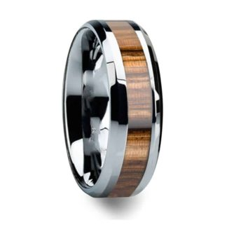 8 mm Tungsten with Zebra Inlay Model #1010