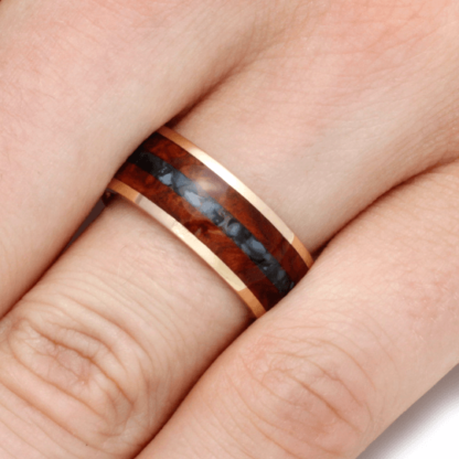 8 mm Amboyna Wood/Black Pearl Inlay with 10 Kt. Yellow Gold Model #3285