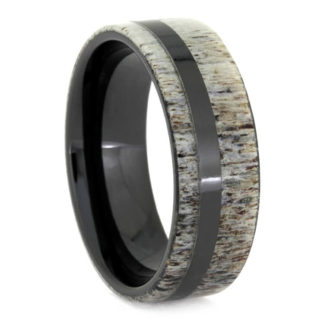 8 mm Antler Inlay in Black Ceramic Model #3525