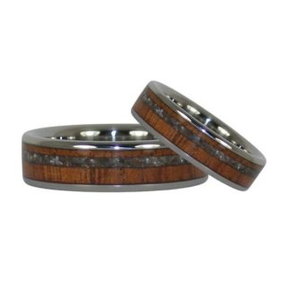 6 mm and 7 mm Hawaiian KOA & Black Pearl in Titanium Model #7075