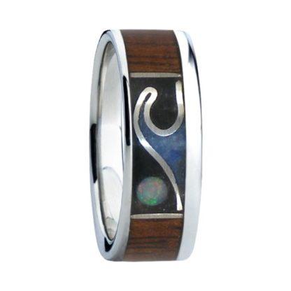 8 mm Opal Moon and Dark KOA in Titanium Model #7055