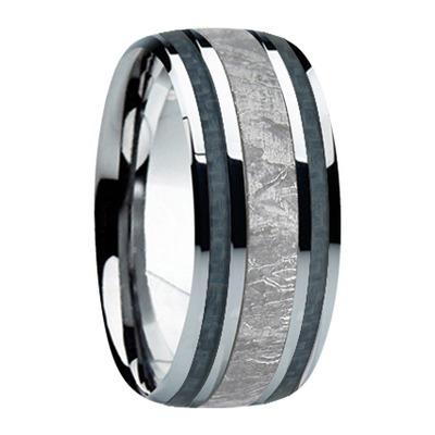 9 mm Meteorite Inlay & Gun Metal Gray Carbon Fiber in Titanium Model #8010