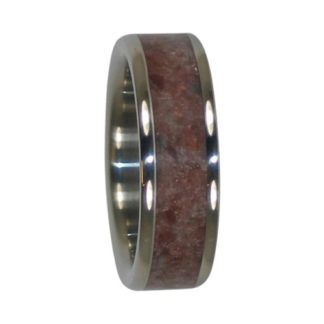 January Birthstone Ring with Garnet in Titanium Model #7120